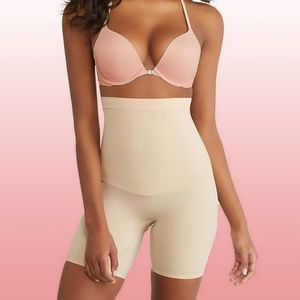 NWT SPANX SS5715 High Waisted MidThigh Shaper Nude